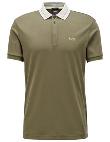 BOSS Paddy 1 Polo T-shirt - Dark Green | Coaststore