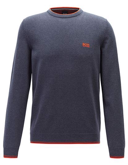 BOSS Rimex Sweater - Open Blue | Coaststore.dk