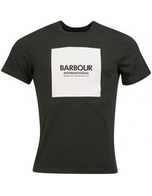 Barbour Block T-shirt - Jungle Green | Coaststore