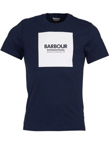 Barbour Block T-shirt - Navy | Coaststore