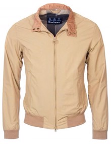 Barbour Royston Harrington Jakke - Light Sand | Coaststore