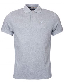 Barbour Tartan Pique Polo T-shirt - Grey Marl | Coaststore