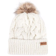 Barbour Penshaw Cable Beanie - Cloud | Coaststore.dk