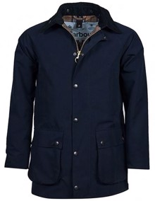 Barbour Slim Beaufort Jakke - Navy | Coaststore