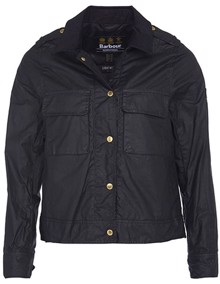 Barbour Ballpark Wax Jakke - Black | Coaststore