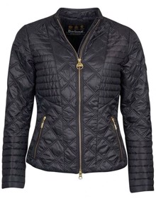 Barbour Freethrow Quilted Jakke - Black | Coaststore