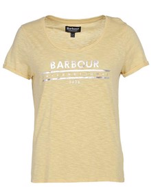 Barbour Fullcourt T-shirt - Citrine Yellow | Coaststore