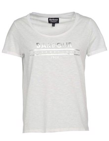 Barbour Fullcourt T-shirt - White | Coaststore