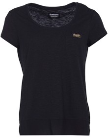 Barbour Fullcourt T-shirt - Black | Coaststore