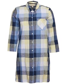 Barbour Promenade Kjole - Skyline Blue Check | Coaststore
