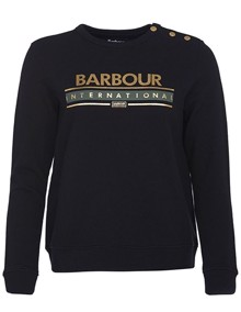 Barbour Rally Sweatshirt - Black | Coaststore
