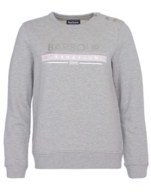 Barbour Rally Sweatshirt - Light Grey Marl | Coaststore