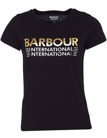 Barbour Trackrace T-shirt - Black | Coaststore