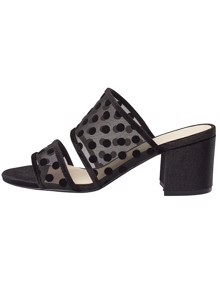 Bianco Biabelle Velour Dots Sandals | Coaststore.dk