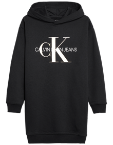 Calvin Klein Jeans Hooded Monogram Sweatshirt - Black | Coaststore