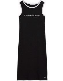 Calvin Klein Jeans Institutional Rib Tank Kjole - CK Black | Coaststore