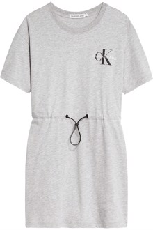 Calvin Klein Jeans Small Monogram Kjole - Light Grey Heather | Coaststore