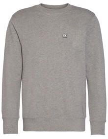 Calvin Klein Jeans CK Chest Badge Sweatshirt - Grey Heather | Coaststore.dk