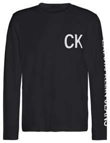 Calvin Klein Jeans CK Jeans On The Back Bluse - CK Black | Coaststore.dk