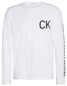 Calvin Klein Jeans CK Jeans On The Back Bluse - Bright White | Coaststore.dk