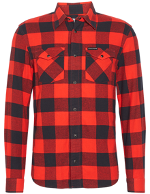 Calvin Klein Jeans Flannel Western Check Skjorte - Racing Red / Black | Coaststore.dk