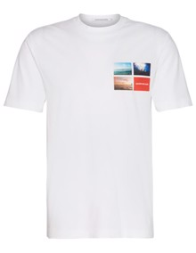 Calvin Klein Jeans Photographic Small T-shirt - Bright White | Coaststore.dk