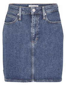 Calvin Klein Jeans High Rise Mini Nederdel - Mid Blue | Coaststore.dk
