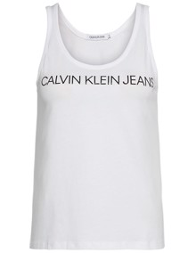 Calvin Klein Jeans Institutional Logo Tank Top - Bright White | Coaststore