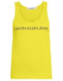 Calvin Klein Jeans Institutional Logo Tank Top - Solar Yellow | Coaststore