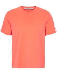 Calvin Klein Jeans Tape Logo T-shirt - Hot Coral | Coaststore