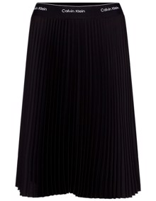 Calvin Klein Sunray Pleat Nederdel - Calvin Black | Coaststore
