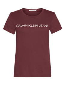 Coaststore_Calvin_Klein_Women_Instituitionel_Tshirt_Bordeaux