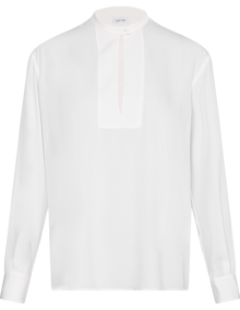 Calvin Klein Open Placket Detail Bluse - Ecru | Coaststore