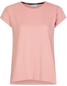 Calvin Klein Turn Up SS T-shirt - Muted Pink | Coaststore