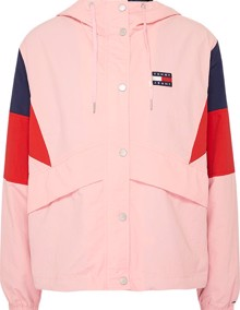 Tommy Jeans Contrast Panel Windbreaker - Pink Icing | Coaststore