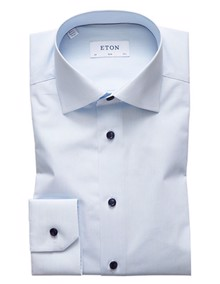 Eton Fine Striped Skjorte - Light Blue | Coaststore.dk