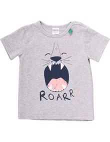 Safari SS Roar T-shirt - Pale Greymarl | Coaststore
