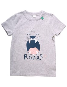 Freds World Safari SS Roar T-shirt - Pale Greymarl | Coaststore