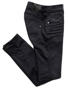 Replay Anbass Hyperflex Clouds Jeans - Black | Coaststore