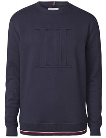 Les Deux Embossed Sweatshirt - Dark Navy | Coaststore.dk