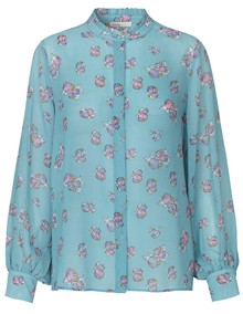 Leveté Room Claudia Forget Me Not Bluse - Blue | Coaststore.dk