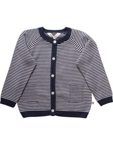 Müsli Knit Stripe Cardigan  - Midnight | Coaststore