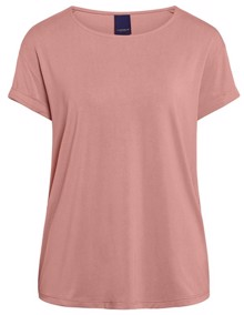 One Two Luxzuz Karin T-shirt - Rose | Coaststore