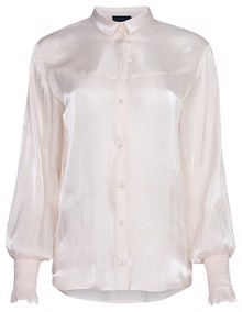 One Two Luxzuz Konja Bluse - Cream | Coaststore.dk