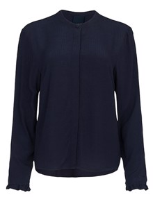 One Two Luxzuz Magdalenia Bluse - Navy | Coaststore.dk