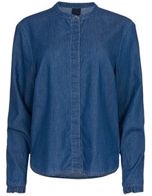 One Two Luxzuz Magdalenia Bluse - Used Denim | Coaststore.dk