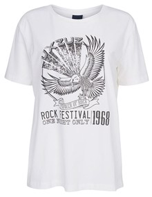 One Two Luxzuz Vintage T-shirt - White | Coaststore.dk