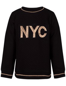 Petit By Sofie Schnoor NYC Sweatshirt - Black | Coaststore.dk