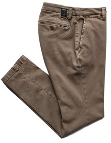 Replay Zeumar Hyperflex Slim Chinos - Brown | Coaststore