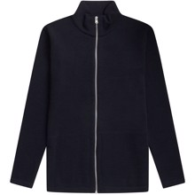 SNS Herning Naval Full Zip Sweater